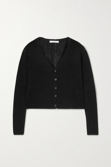 The Row - Abigael 羊绒短款开襟衫 - 黑色 - x small