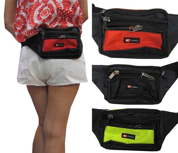 ~雪黛屋~COMELY 腰包小容量二層主袋+外袋共四層工具包隨身運動腰包防水尼龍布材質C1355