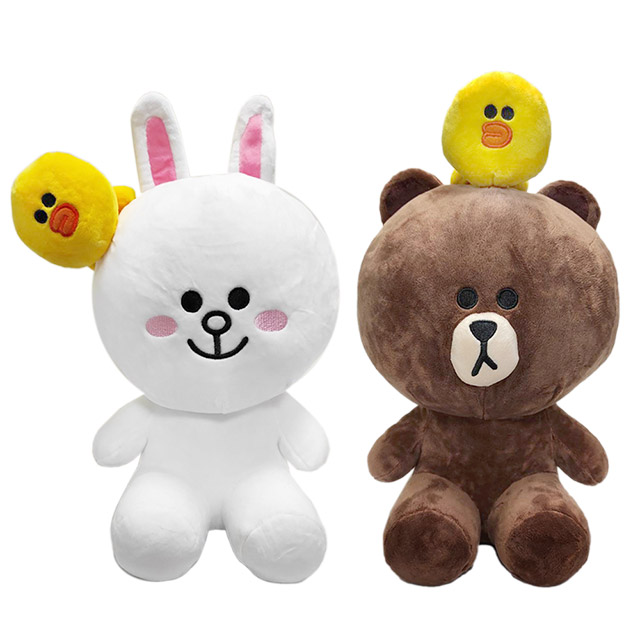 LINE FRIENDS 40公分玩偶娃娃 熊大 兔兔 莎莉
