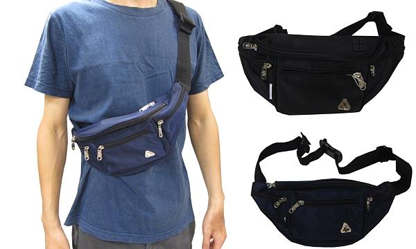 ~雪黛屋~SPYWALK 腰包小容量主袋+外袋+共五層貼身輕巧設計工具包隨身品防水尼龍布SD8169
