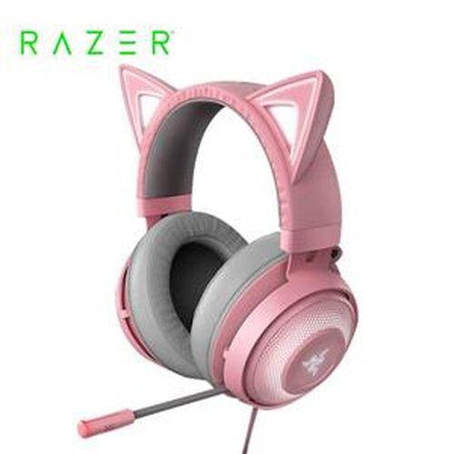 雷蛇Razer Kraken Kitty Quartz 北海巨妖 粉晶發光貓耳 電競耳機麥克風