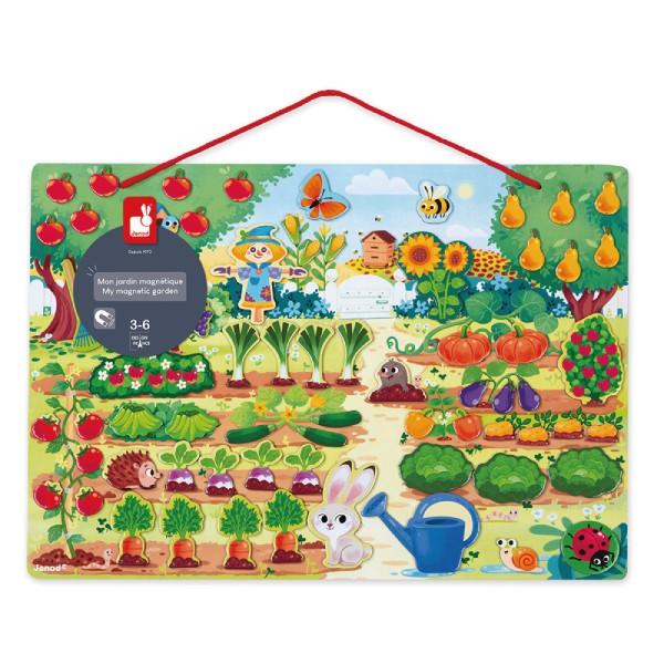 法國 Janod 磁鐵遊戲板-花園農場【麗兒采家】