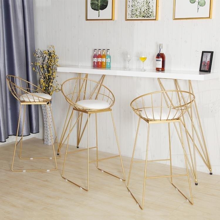 北歐大理石吧台桌簡約高腳長條桌家用小酒吧台奶茶店實木桌椅組合yh