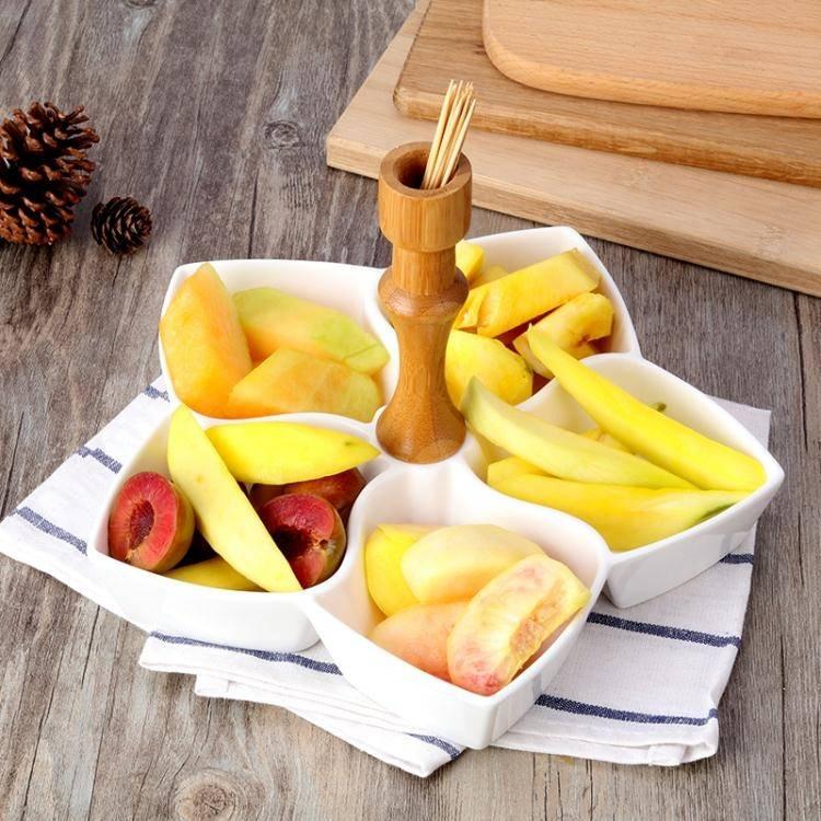 歐式創意陶瓷堅果水果盤零食盤子客廳家用干果酒吧小吃碟拼盤