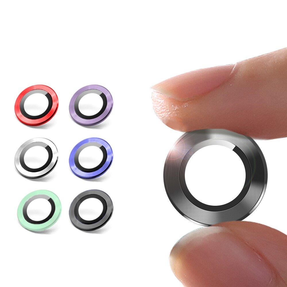 City for iPhone 12 6.1吋 鋁合金 9H玻璃鏡頭環 玻璃貼(一組含鏡頭環2個)