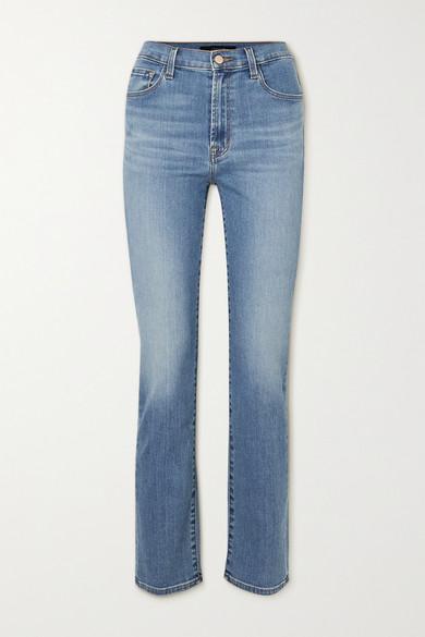 J Brand - Teagan 高腰直筒牛仔裤 - 中牛仔蓝 - 31