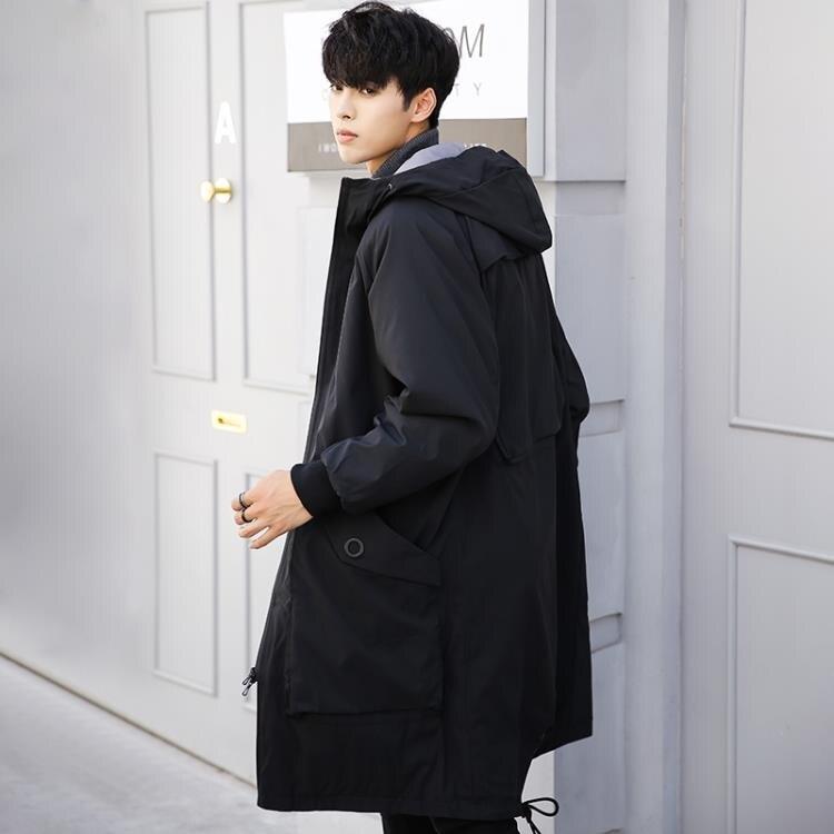 男士風衣冬季加厚2020韓版潮流大衣春秋季薄款風衣男裝中長款外套
