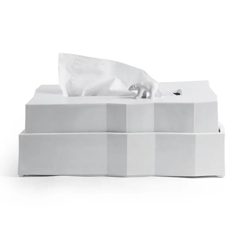 【QUALY】北極熊-衛生紙盒 衛生紙盒 收納 居家收納 居家生活 衛生紙收納 【JC科技】