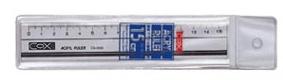 【曉童文具】CS-1500_15CM多功能方眼切割直尺