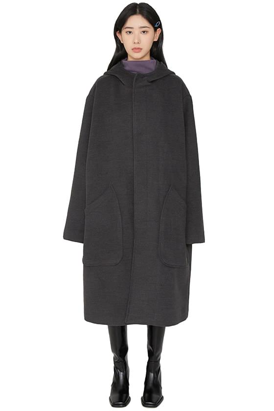 韓國空運 - Oversized san hooded long coat 大衣外套