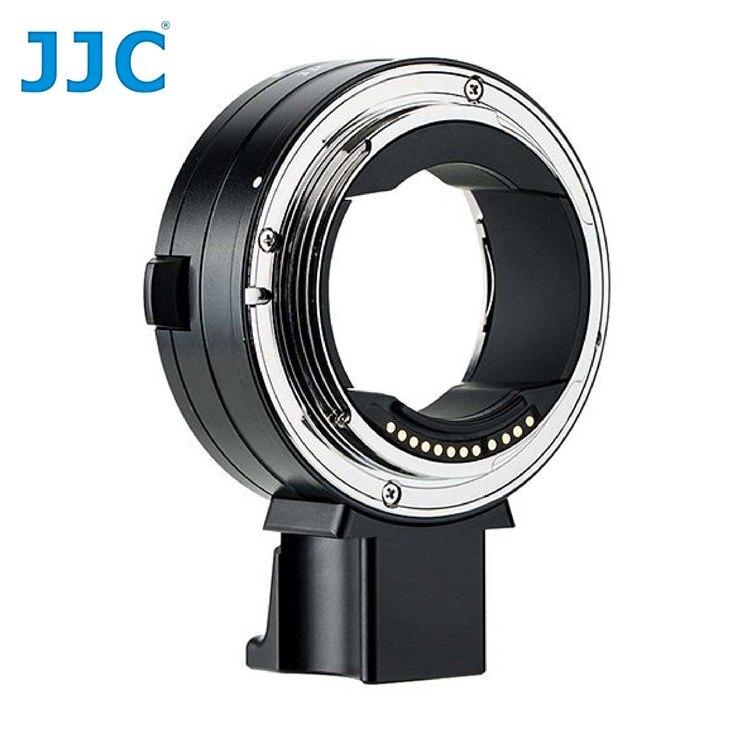 又敗家JJC副廠Canon光圈快門自動對焦控制環鏡頭轉接環CA-EF_RF電子晶片相容佳能原廠EF-EOS R轉EF-S