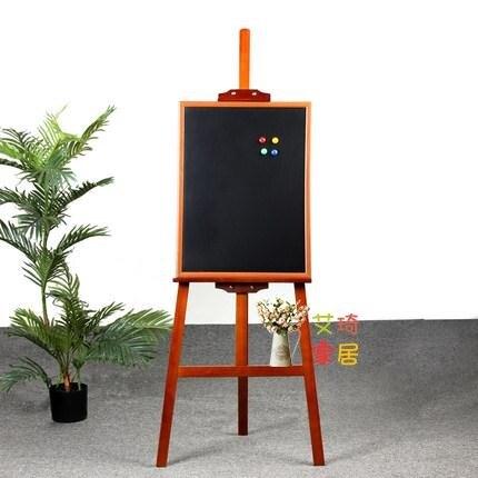 木質廣告板 黑板支架式木質立式磁性小黑板店鋪掛式宣傳板展示牌菜單廣告黑板木框寫字板 聖誕節狂歡SALE
