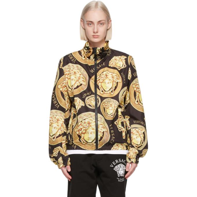 Versace 黑色 and 金色 Medusa Amplified Print 防风夹克