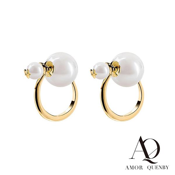 AQ 925純銀 經典百搭珍珠款耳環/耳針(AMOR Quenby)