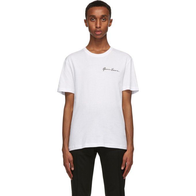 Versace 白色 GV Signature Embroidered T 恤