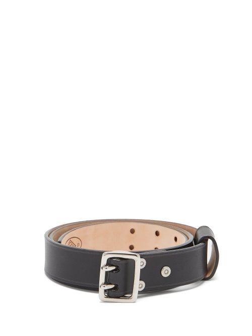 Chloé - Franckie Double-prong Buckle Leather Belt - Womens - Black