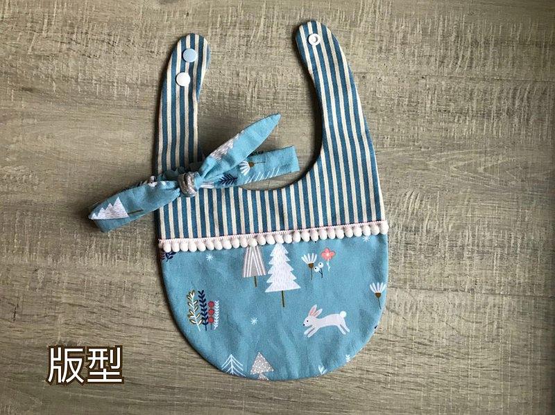 手作圍兜 彌月禮套組 圍兜 奶嘴鏈 髮帶 6m-24m 吃飯兜 口水巾 不含繡字