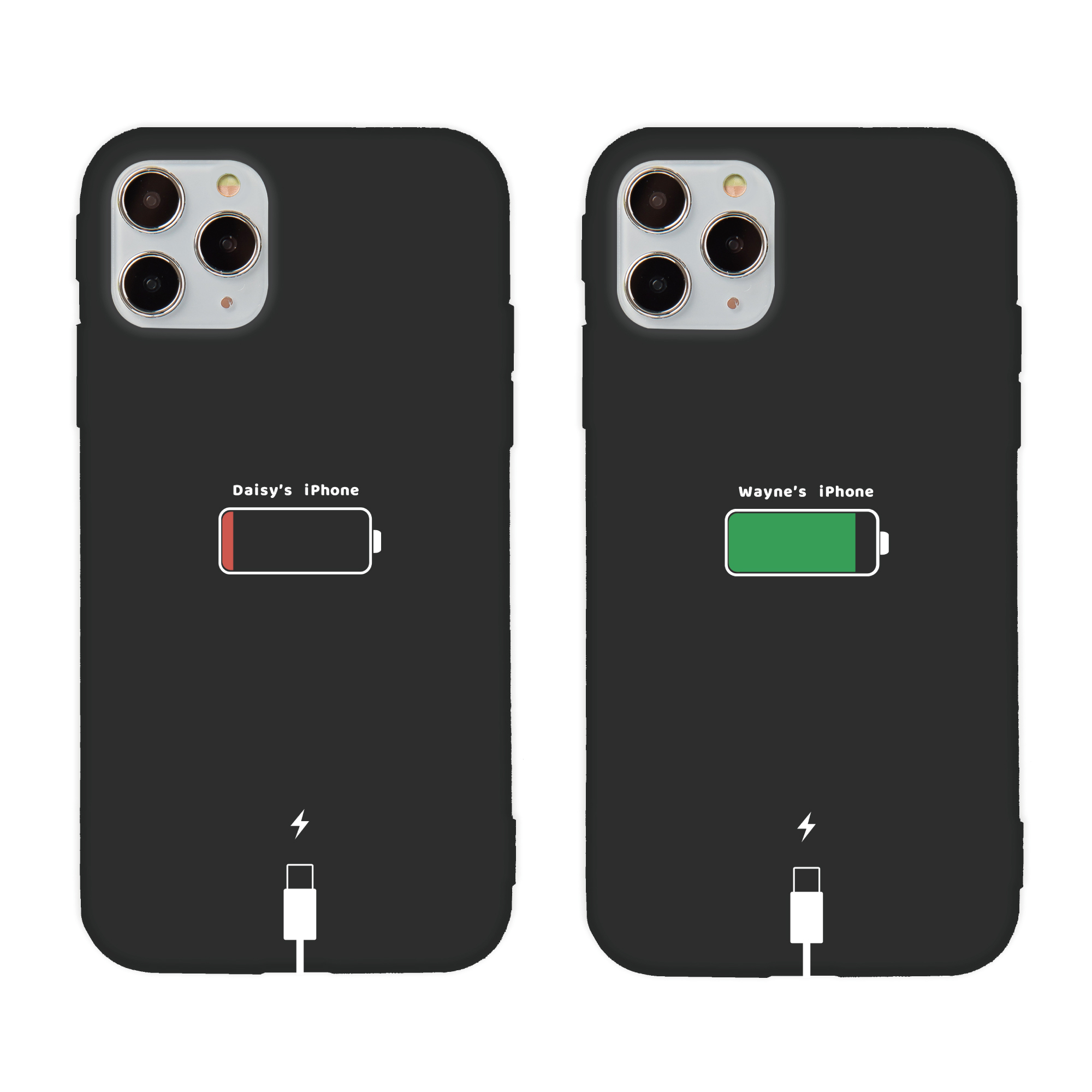 【客製名字】充電中創意客製名字iPhone手機殼