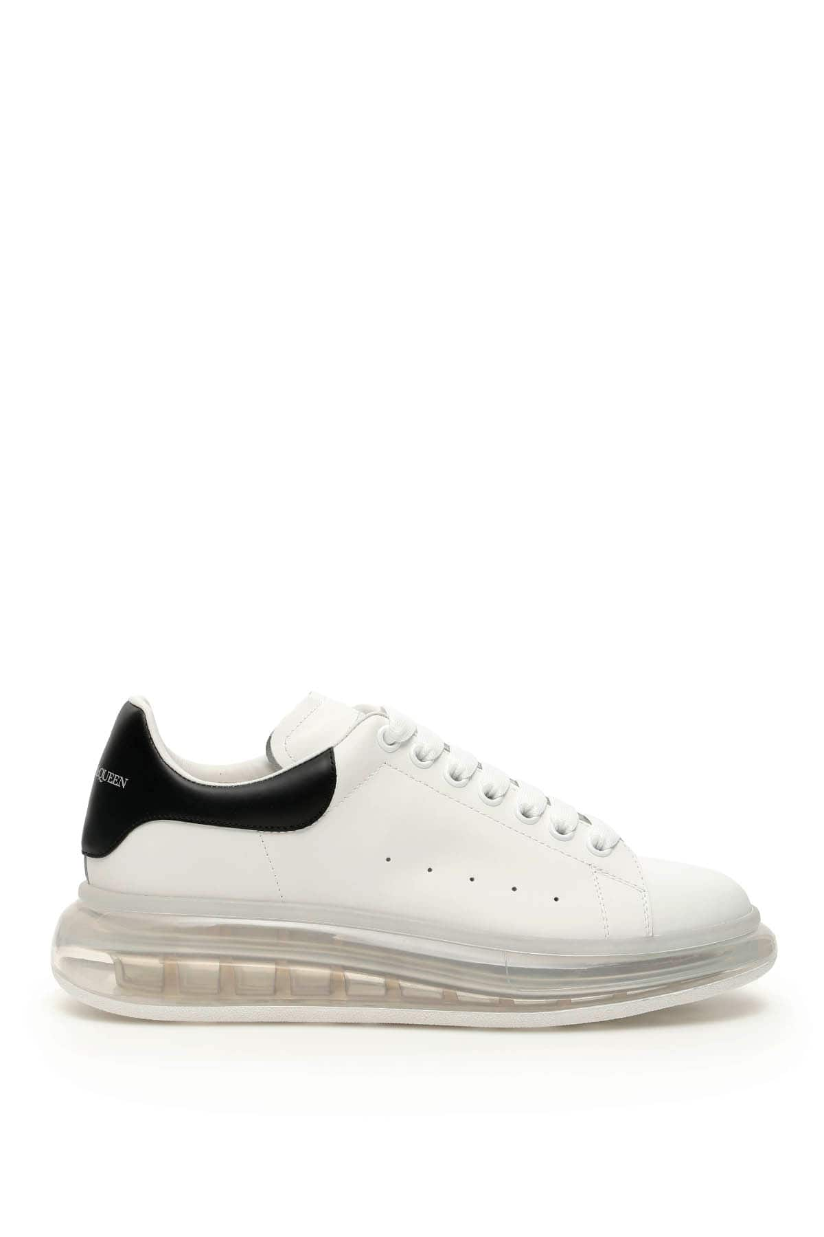 ALEXANDER MCQUEEN OVERSIZED SNEAKERS 42 White, Black Leather