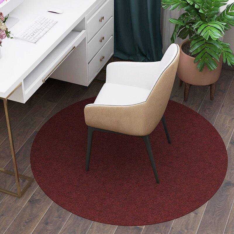 (加厚)圓形地毯 圓形地墊臥室辦公電腦椅子轉椅家用腳墊書房滾輪防滑墊吊籃墊子【DD31250】