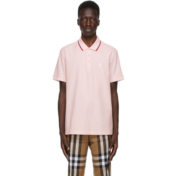 Burberry 粉色 Walton Icon Stripe Polo 衫
