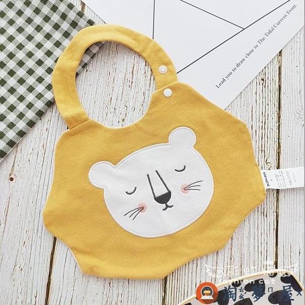 兒童口水巾寶寶卡通動物防水圍嘴純棉嬰兒圍兜【淘夢屋】