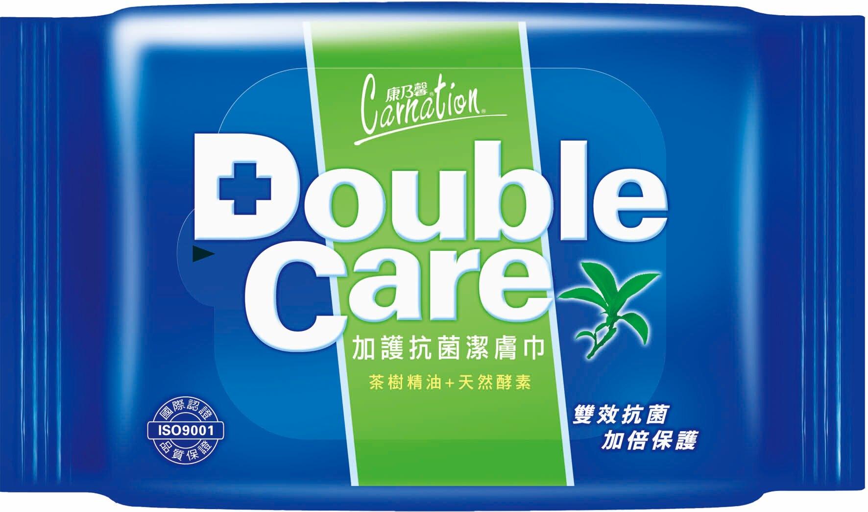 【醫博士】康乃馨Double care抗菌濕巾  ( 20抽/24包/箱 )