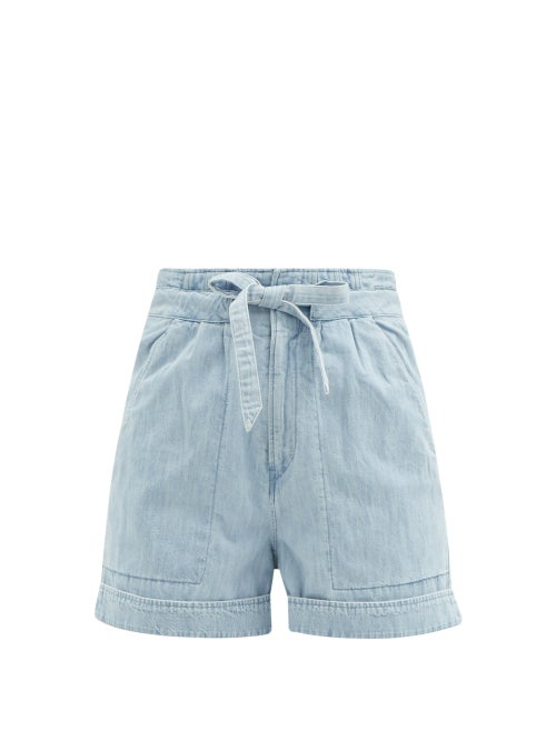 Isabel Marant Étoile - Marius High-waist Denim Shorts - Womens - Light Denim