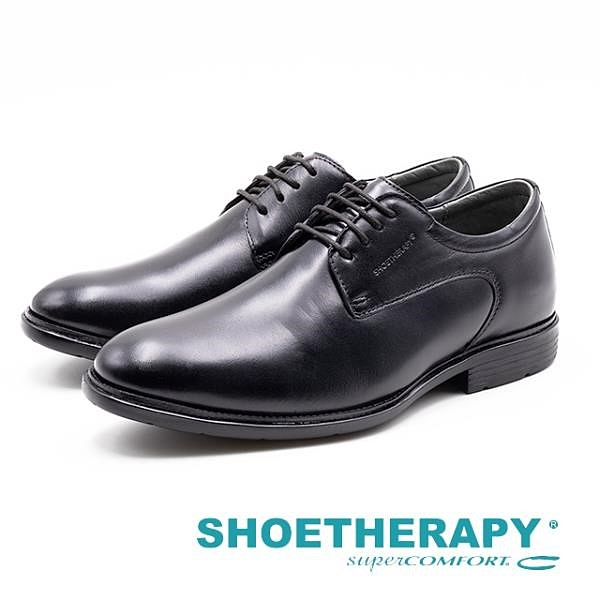 【南紡購物中心】SAPATOTERAPIA 巴西男士 經典延續繫帶皮鞋 - 黑