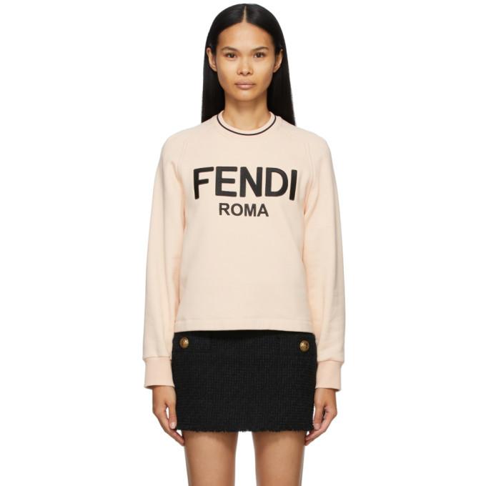Fendi 粉色徽标套头衫