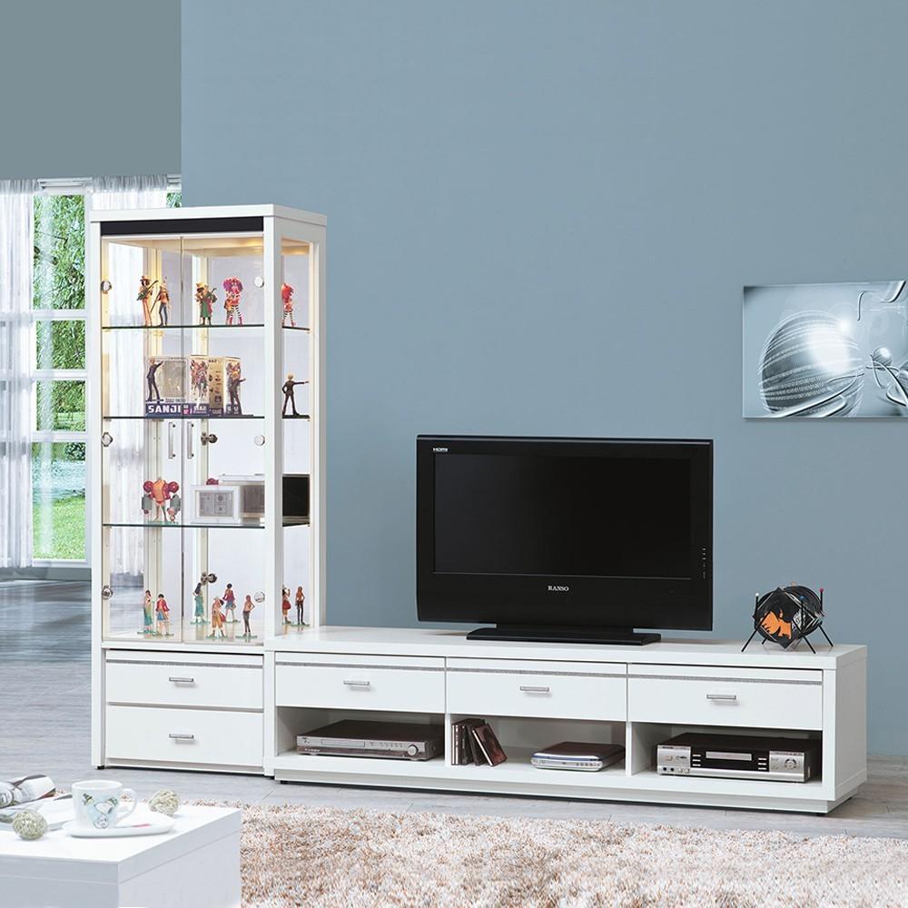 as-米堤白色電視櫃l櫃整組-247x45x182cm