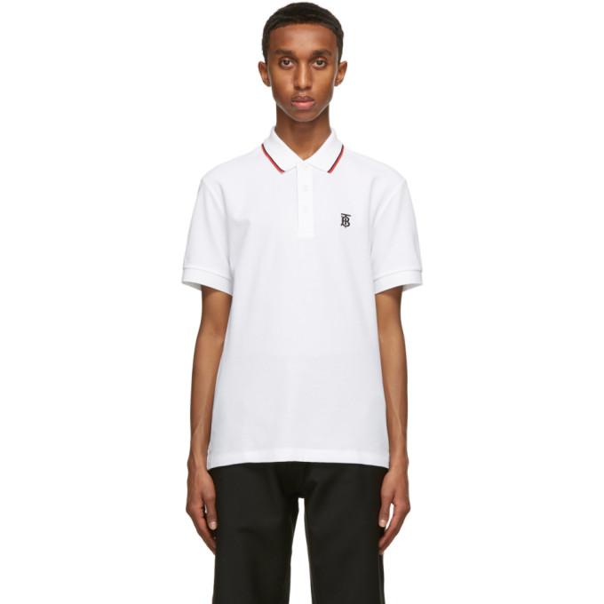 Burberry 白色 Walton Polo 衫