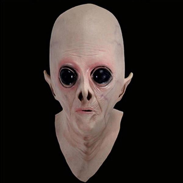万圣节外星人头套电影主题面具cos鬼面具恐怖成人吓人乳胶头套