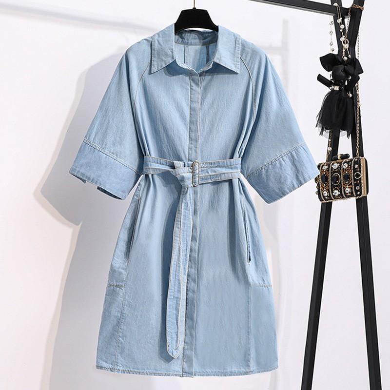阿華有事嗎AHUA 韓系女裝 時尚單排釦牛仔連身裙 C1564 韓妞必備 百搭顯瘦基本款