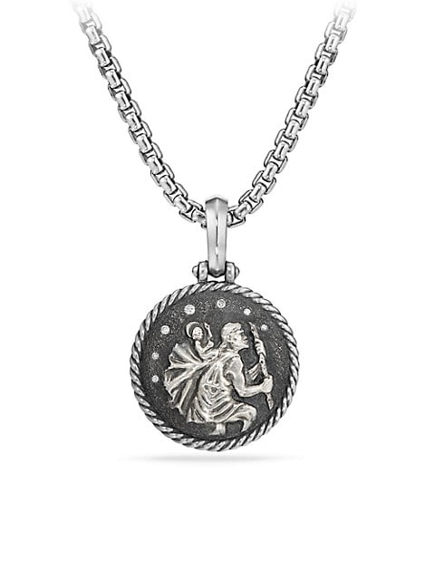 Cable Collectibles® St. Christopher Sterling Silver & Diamond Amulet