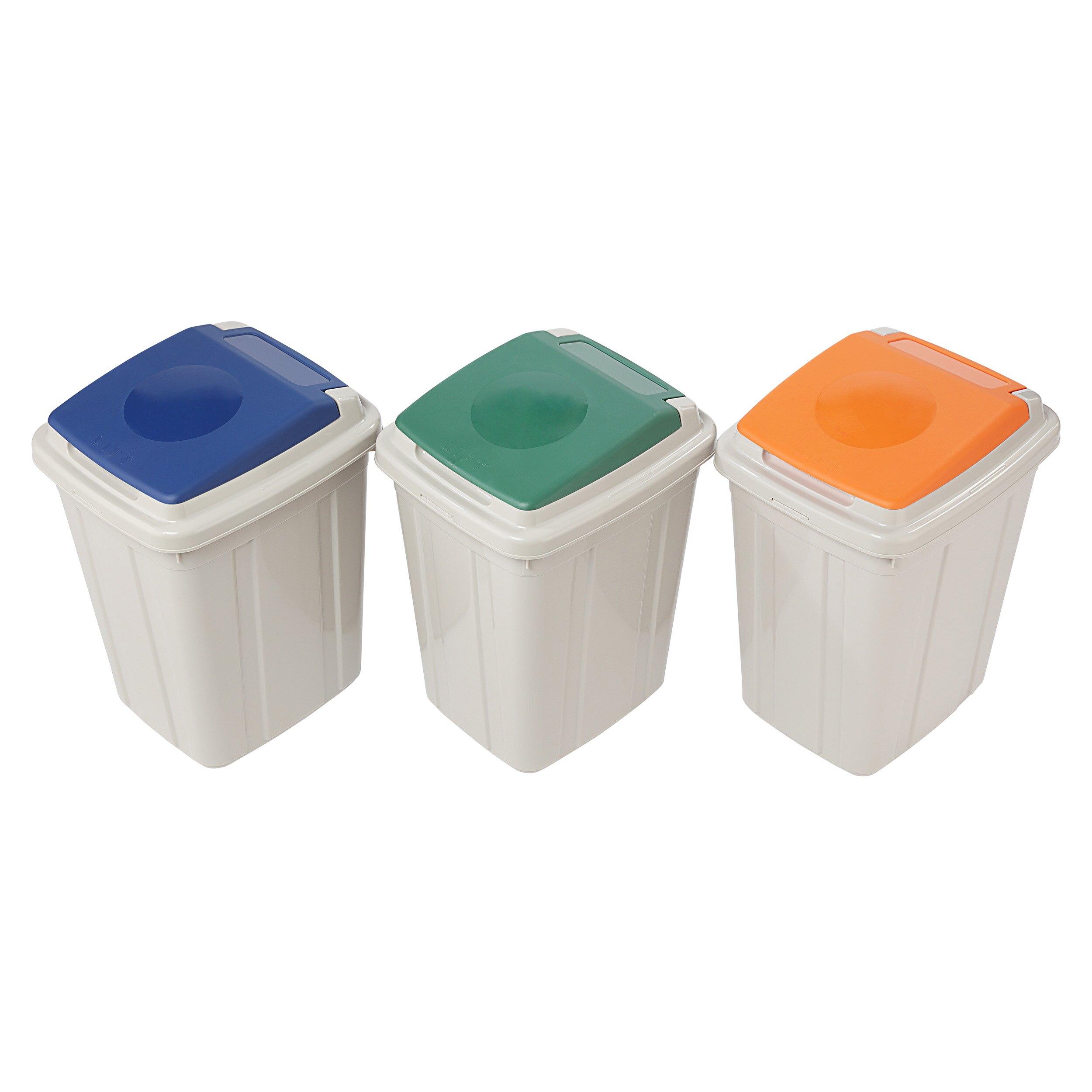 掀蓋垃圾桶/環保概念/MIT台灣製造 日式分類附蓋垃圾桶 CL26 KEYWAY聯府