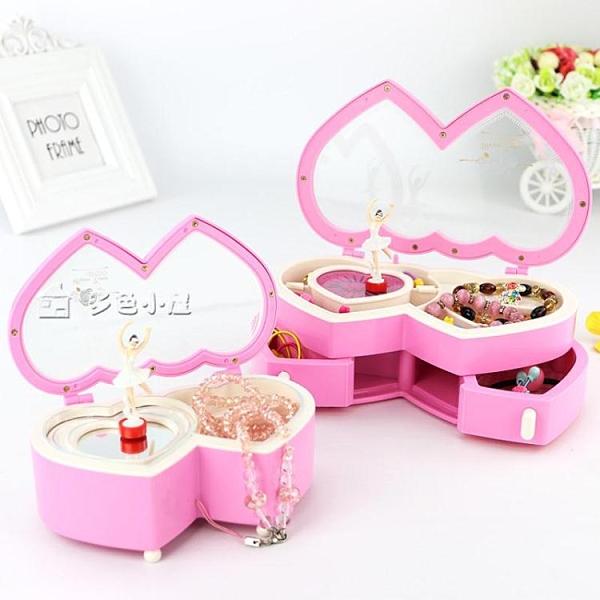 八音盒音樂盒八音盒女生旋轉跳舞芭蕾女孩公主送兒童生日禮物聖誕首飾盒 快速出貨