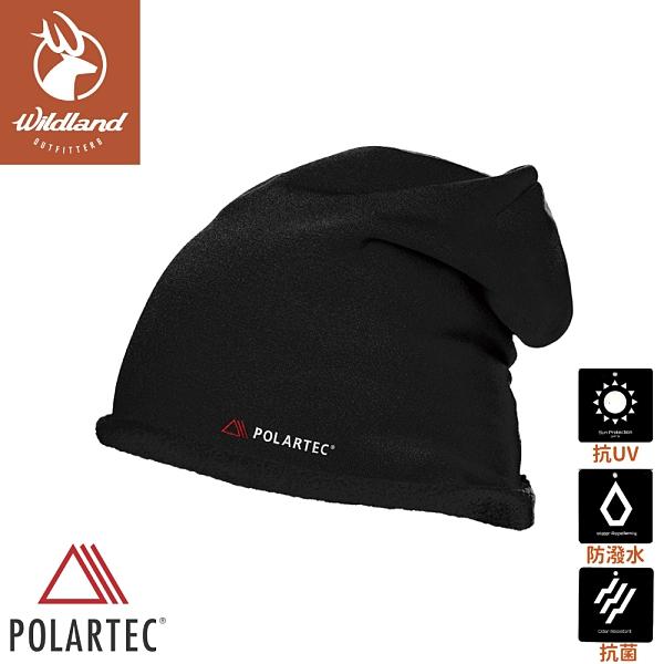 【Wildland 荒野 中性 Polartec PSP 彈性保暖帽《黑》】P2025/針織帽/毛帽/登山滑雪/休閒帽