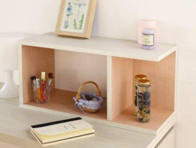 日本進口 好品質 木頭製 木收納架 CD架儲物架 桌面整理架床頭架 多功能收納架 簡約時尚收納置物櫃子整理櫃 2789A
