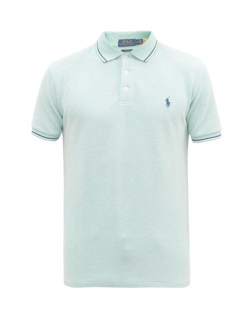 Polo Ralph Lauren - Slim-fit Cotton-blend Piqué Polo Shirt - Mens - Light Green