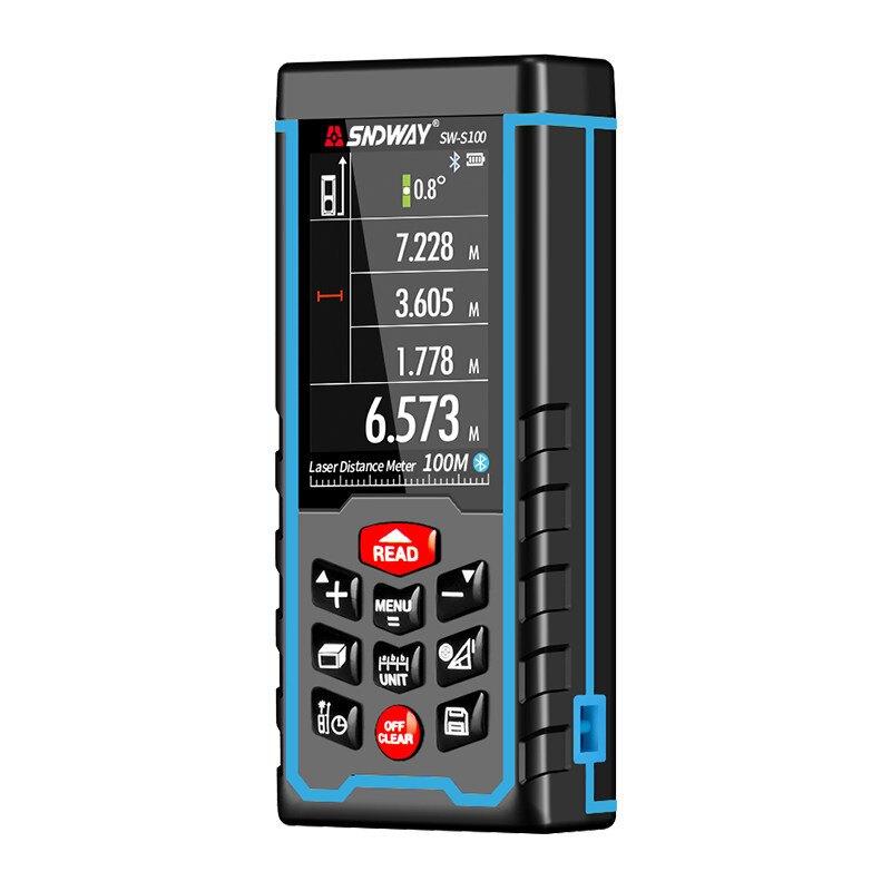 SNDWAY/深達威測距儀激光測距儀彩屏紅外線測量儀可充電式電子尺【聖誕禮物】