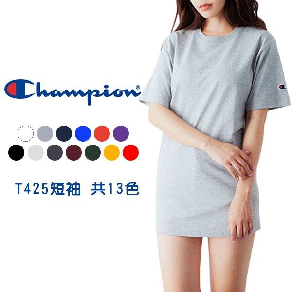 Champion【T425DG】T425 短袖 T恤 美規 高磅數 森林綠色 男女都可穿