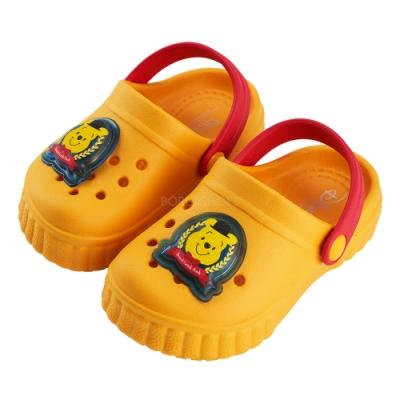 迪士尼童鞋 小熊維尼 電燈洞洞布希鞋-黃(柏睿鞋業)