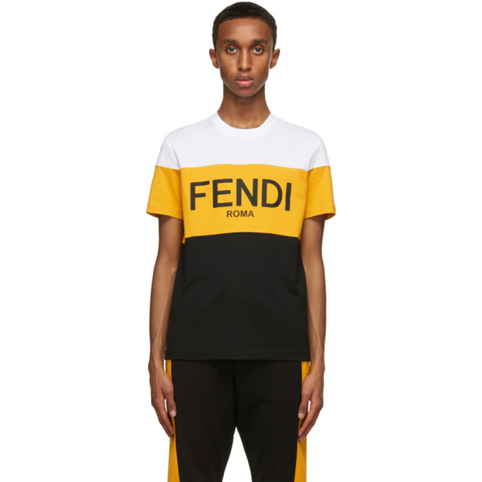 Fendi 多色徽标 T 恤