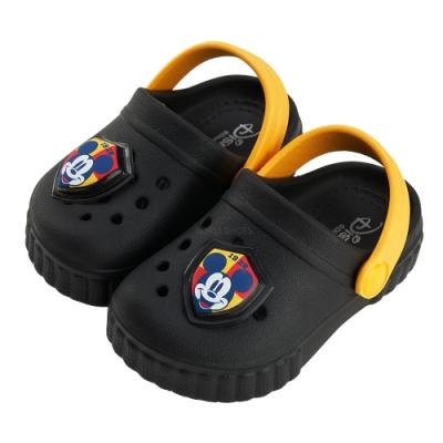 迪士尼童鞋 米奇 電燈洞洞布希鞋-黑(柏睿鞋業)