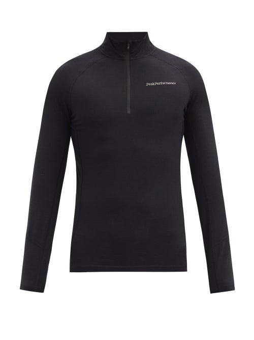 Peak Performance - Magic Zipped Merino Wool-blend Base Layer Top - Mens - Black