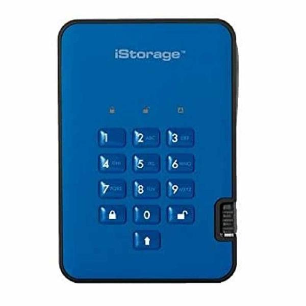 iStorage diskAshur2 256位 USB 3.1安全加密硬碟 5TB 軍事級AES-XTS加密 綠/黑/藍/紅 [2美國直購]