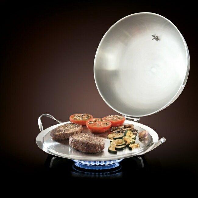 法國mastrad O''PLANCHA不銹鋼專業料理鐵板燒盤