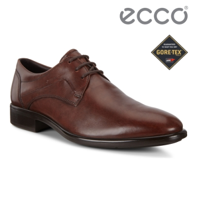 ECCO CITYTRAY 適途紳仕商務防水正裝鞋 男鞋 棕色
