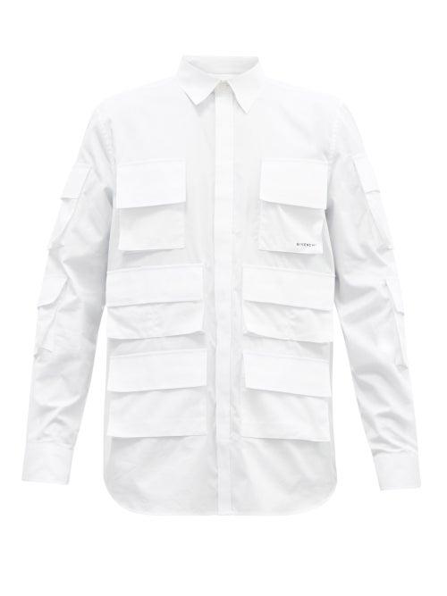 Givenchy - Patch-pocket Cotton-poplin Shirt - Mens - White